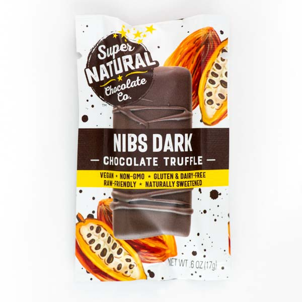 Nibs Dark Vegan Raw Chocolate Truffle