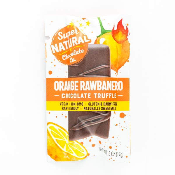 Orange Rawbanero Vegan Raw Chocolate Truffle
