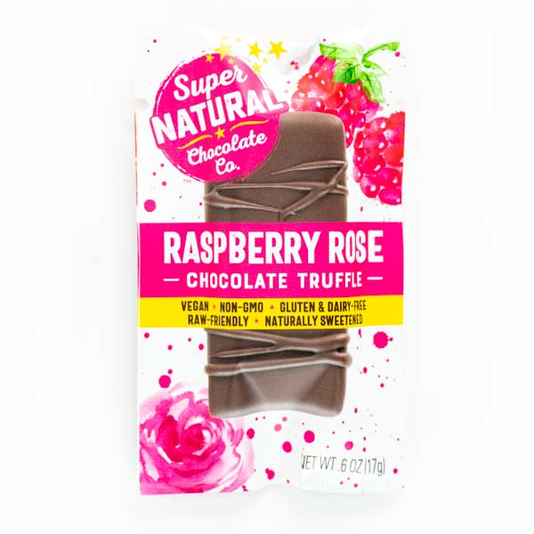 Raspberry Rose Vegan Raw Chocolate Truffle